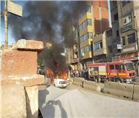 السيطرة على حريق سيارة أجرة بقليوب دون وفيات