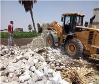 مراكز المنيا تزيل 813 حالة تعد على الأراضي الزراعية