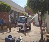 «مياه بنها» تعقم جميع محطاته منعا لأي تداعيات تؤثر على العاملين والمواطنين