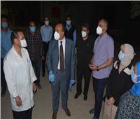 نائب محافظ المنيا يحيل مسئول المخازن بمستشفى الحميات للتحقيق