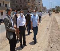 محافظ الغربية يتابع أعمال الرصف ورفع الإشغالات
