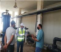 رئيس شركة مياه الشرب بوسط سيناء يتفقد موقع إنشاء محطة تحلية صدر الحيطان