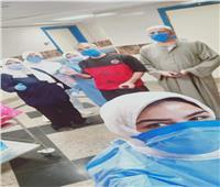 خروج حالات جديدة عقب شفائها من فيروس كورونا من مستشفى قها بالقليوبية
