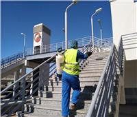 بالصور| «السكة الحديد» تواصل الإجراءات الخاصة بمكافحة كورونا