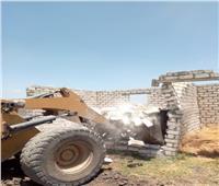 إزالة 7 حالات تعدي على مساحة 1089 متر أرض زراعية بالدلنجات