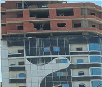 إزالة طوابق مخالفة من مستشفى خاص بالغربية
