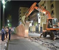 إزالة الحواجز الخرسانية أمام مبنى الأمن الوطني بالأقصر لمنع التكدس المروري