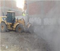 مراكز المنيا تزيل 53 حالة تعدٍ بالبناء على الأراضي الزراعية وأملاك الدولة