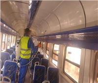 صور| السكك الحديدية تنشر فرق التعقيم لتطهير القطارات والمحطات