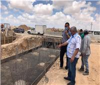 رئيس «برج العرب الجديد» يتفقد أعمال تطوير طرق ومداخل المدينة