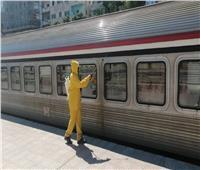 صور| السكة الحديد: تطهير وتعقيم القطارات والمحطات للوقاية من كورونا