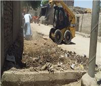 حملة نظافة الشوارع الرئيسية بمدينة الزينية بالأقصر
