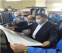 صور| رئيس السكة الحديد يتفقد المطبعة استعدادا لتطويرها