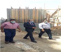نائب محافظ الغربية يتفقد أعمال رصف وتطوير شارع الكورنيش