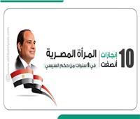 إنفوجراف| 10 إنجازات أنصفت المرأة المصرية في 6 سنوات من حكم السيسي