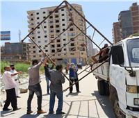 إزالة ٢٥٠ مخالفة إشغال طريق بكفر الدوار