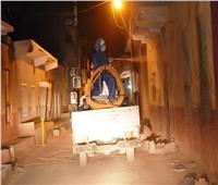 محافظ أسوان: استمرار تنفيذ أعمال التطهير بالشوارع والميادين والمنازل