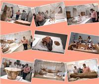 وزير السياحة والآثار بجولة في متحف الحضارة لمتابعة آخر تطور سيناريو العرض المتحفي