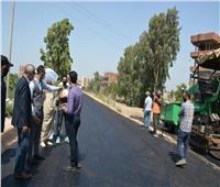 محافظ القليوبية يتفقد أعمال رصف طريق بنها كفر سعد وميت راضي