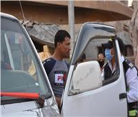 سحب رخص 23 سيارة لعدم ارتداء السائقين والركاب الكمامة بالغربية