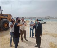 بالصور والفيديو  رئيس مدينة مطروح يتفقد أعمال الصيانة ورفع كفاءة الكورنيش