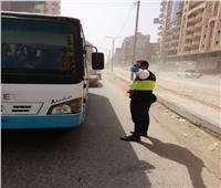 ضبط٦٣ سائق أجرة بمواقف مدينة الزقازيق لعدم ارتداء الكمامات