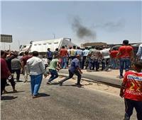 صور| حادث على الطريق الدائري بالبساتين وتهشم عدد كبير من السيارات