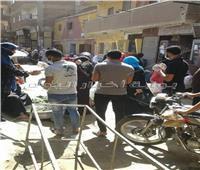 بالصور| حملة شبابية لمواجهة كورونا بأسواق إحدى قرى المنوفية