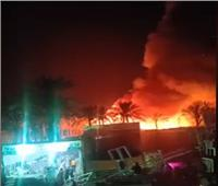 السيطرة على حريق بسوق السيراميك بالمرج