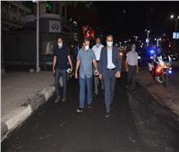 محافظ الغربية ونائبه يتابعان أعمال الرصف بشارع البحر