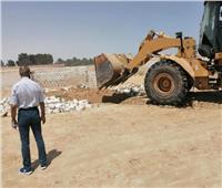 إزالة77 حالة تعدٍ على أراضٍ بمدينة بئر العبد الجديدة