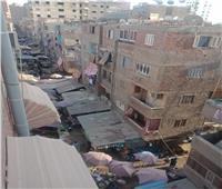 صور| سوق الخضار بعين شمس الغربية يهدد بانتشار كورونا