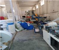 ضبط 250 ألف كمامة داخل مصنع غير مرخص بكفر الشيخ