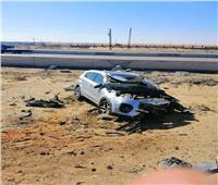 مصرع وإصابة ٦ أشخاص من أسرة واحدة أثر انقلاب سيارة على صحراوي البحيرة