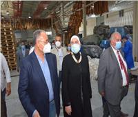 وزيرة التجارة والصناعة تتفقد الوحدات الإنتاجية بمدينة الجلود بالروبيكي