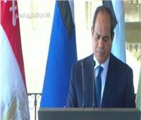 الرئيس السيسي: قوى خارجية تدعم المليشيات المتطرفة والمرتزقة فى ليبيا