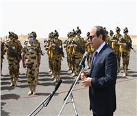 الملف الليبي وسد النهضة.. رسائل الرئيس السيسي من المنطقة الغربية العسكرية