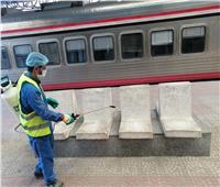صور| السكة الحديد تعلن استمرار أعمال تعقيم القطارات لمواجهة كورونا