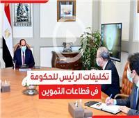 فيديوجراف| تكليفات الرئيس السيسي للحكومة في قطاع التموين