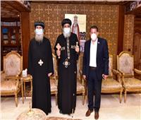البابا تواضروس يستقبل أسقف نقاده وقوص