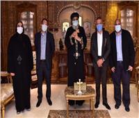 البابا تواضروسيستقبل وفدًا من «أورانچ مصر»