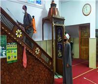 تعقيم وتطهير المساجد بعدد من مدن القليوبية ووضع ملصقات توعية