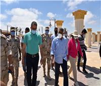 وزير السياحة والآثار يتفقد منطقة شاطئ كليوباترا ومتحف مطروح