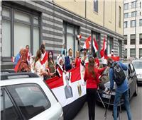 صور  الجالية المصرية في ألمانيا تحتفل بذكرى ثورة 30 يونيو