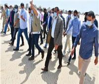 محافظ البحيرة يتفقد أعمال إحلال وتجديد خط مياه بولي ايثلين قطر