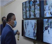 رئيس جامعة بنها يفتتح وحدة منظومة كاميرات المراقبة