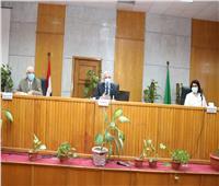 """""""مبارك"""" يعقد الجلسة الشهرية لمجلس جامعة المنوفية"""