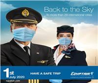 فيديوجراف| 40 إجراء لسفر خال من كورونا عبر مصر للطيران