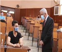 رئيس جامعة المنوفية يتفقد لجان امتحانات الفصل الدراسي الثاني