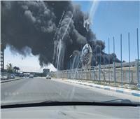 حريق هائل في شركة السويس لتصنيع البترول